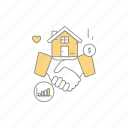 business, business deal, deal, property, property business icon