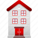 apartment, condo, condominium, home, house, property, residential icon