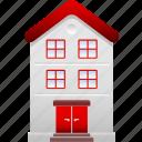apartment, condo, condominium, home, house, property, residential icon