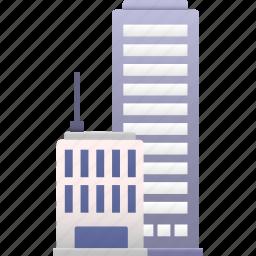 business, center, city, commerce, office, property, skyscraper icon