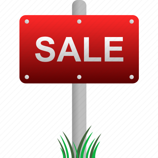 for sale, house, land, property, real estate, sale, sign icon