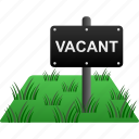 house, land, property, real estate, sign, vacant icon