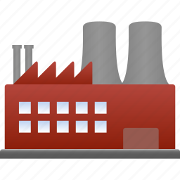 factory, industrial, industry, manufacturer, manufacturing, production, property icon