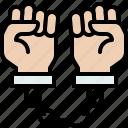 arrest, arrested, crime, criminal, security icon