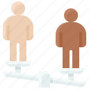 balance, equality, fairness, human right, imbalance, judgement icon