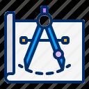 architecture, mathematic, paper, prototype, scale icon