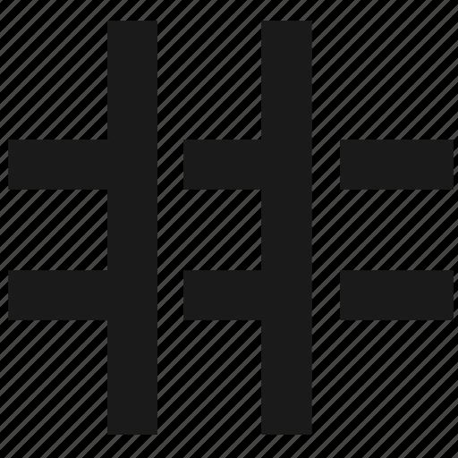 grid, interface, layout, modular grid icon