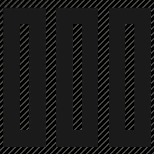 columns, grid, layout, modular grid, wireframe icon