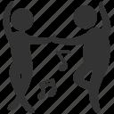 ballroom, dance, dancers, gambol, hoofer, jig, shake a leg icon