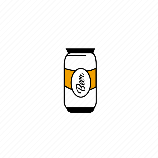 beer, cans, colors, illustration, lines, typography, yellow icon