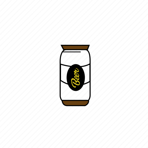 beer, cans, clean, colors, illustrative, vector design, yellow icon