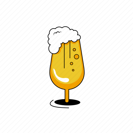 beer, design, glass, glass of beer, lines, yellow icon