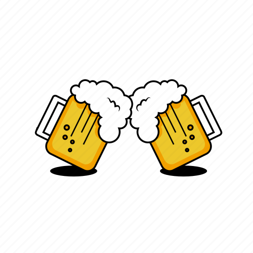Beer, cheers, foam, glass, graphicdesign, mugs, vector ...