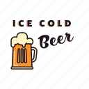 alcohol, beer, drinking, glass, ice cold, pub icon