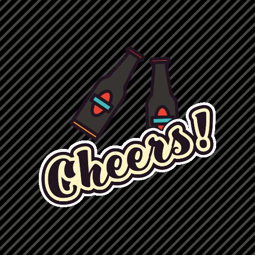 alkohol, beers, bottles, celebrating, cheers, drinking, pub icon