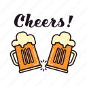 alcohol, beer, celebrating, cheers, drinking, glasses, pub icon