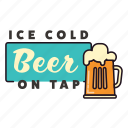 alcohol, beer, drinking, glass, ice cold, on tap, pub icon