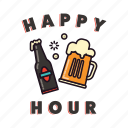 beer, pub, glass, happy hour, bottle, drinking, pint icon