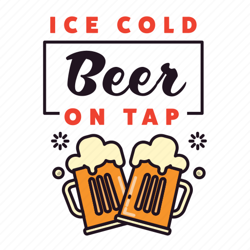 Alcohol, beer, drinking, glasses, ice cold, pub, tap icon - Download on Iconfinder