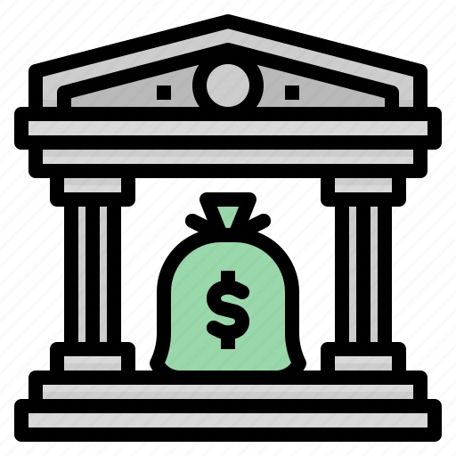 bank, banking, buildings, business, finance icon
