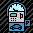 city, meter, parking, transportation, urban icon