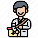 doctor, emergency, health, paramedic, physician icon