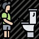 hygiene, pee, restroom, toilet, urinate