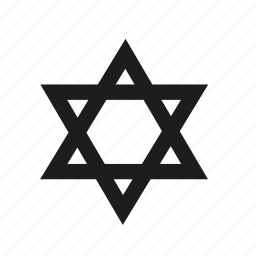 hebrew, israel, jewish, religion, star, star of david icon