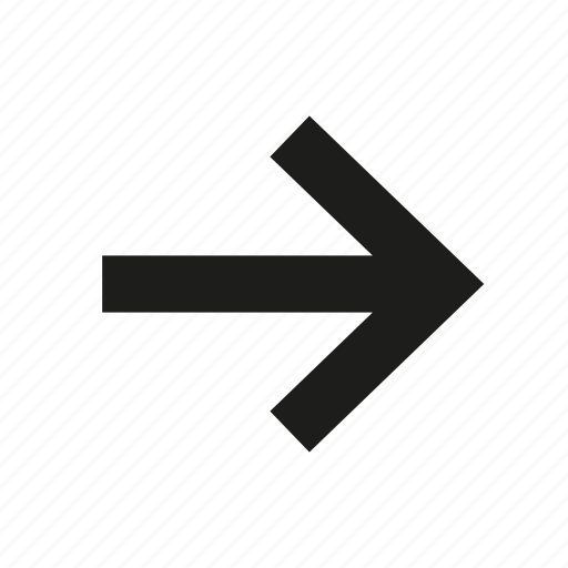 arrow, arrow right, direction, pointer, right, right arrow icon