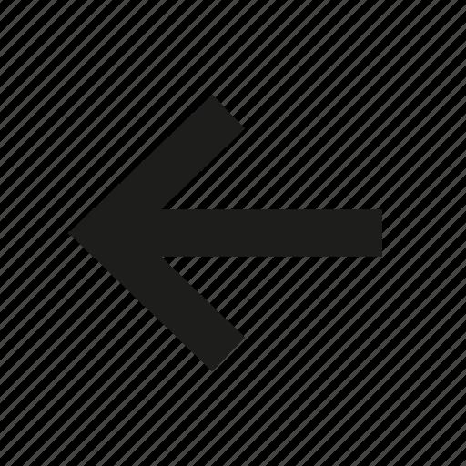 arrow, arrow left, direction, left, left arrow, pointer icon