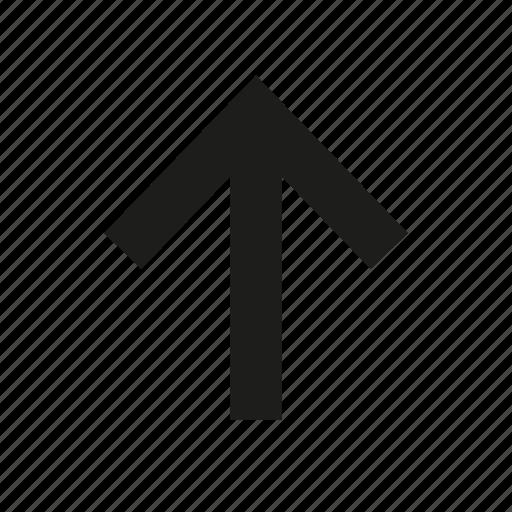 arrow, arrow up, direction, pointer, up, up arrow icon