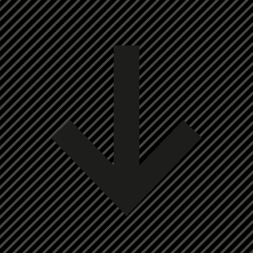 arrow, arrow down, direction, down, down arrow, pointer icon
