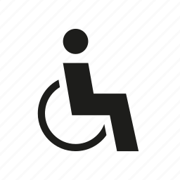accessible, disabled, handicap, handicapped, ramp, wheel chair icon