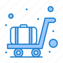 airport, luggage, trolley icon