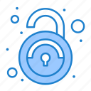public, unlock, unsafe, unsecured icon