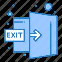 door, exit, logout, out