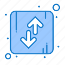 arrow, direction, down, orientation, up icon