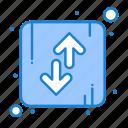 arrow, direction, down, orientation, up