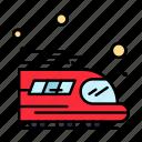 public, train, transport