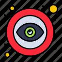 eye, open, public, visible