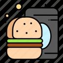 burger, drink, fast, food