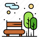 bench, city, garden, park, public icon