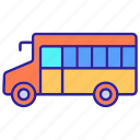 bus, contour, public, transport