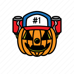 avatars, face, halloween, pumpkin, smile icon