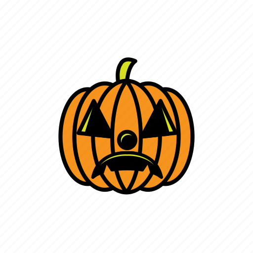 avatars, face, halloween, pumpkin, sad, scary icon