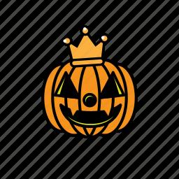 avatars, face, halloween, pumpkin, smile icon
