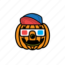 avatars, halloween, pumpkin, face, smile
