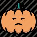 annoying, emoticon, halloween, pumpkin icon