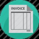 bill, factura, invoice, market, mercadolibre, paper, payment icon