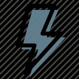 bolt, energy, flash light, high voltage, light, lighting icon